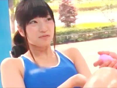 トレーニングウェアで運動するスポーツお姉さん♪♪鍛えたカラダに電マを当て悶え、ローションまみれ、にしてSEXスタート